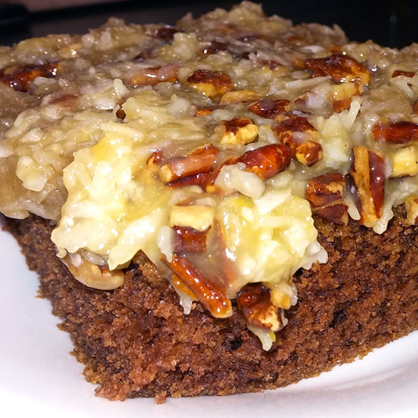 German Chocolate Cake (available Thursday)