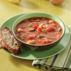 Tomato Soup w/ Garden Vegetables